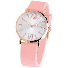Hoops Women's Watch Only Time Folie Gold Collection Pink