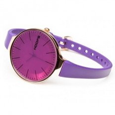 Hoops Women's Watch Only Time Glam Gold Collection Purple