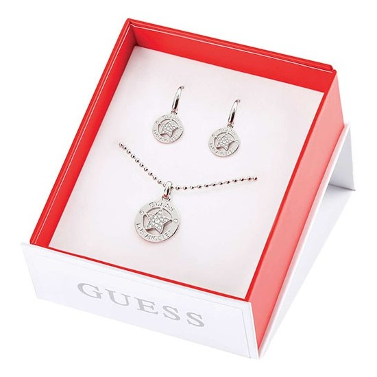 Guess Women Necklace and Earrings Boxset UBS10810 Los Angeles