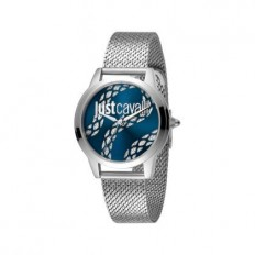 Just Cavalli Women's Watch Only Time Silver/Blue