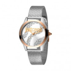 Just Cavalli Women's Watch Only Time Rosegold/White