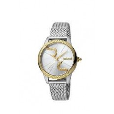 Just Cavalli Women's Watch Only Time Snake Gold/Silver