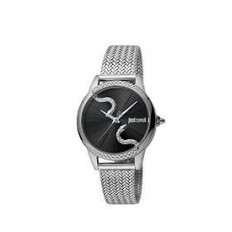 Just Cavalli Women's Watch Only Time Snake Silver/Black