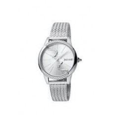Just Cavalli Women's Watch Only Time Snake Silver/Silver
