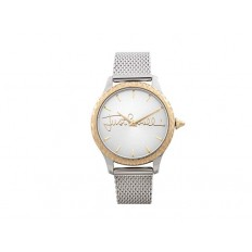 Just Cavalli Women's Watch Only Time Logo Collection Silver/Gold