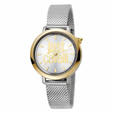 Just Cavalli Women's Watch Only Time Silver/Gold