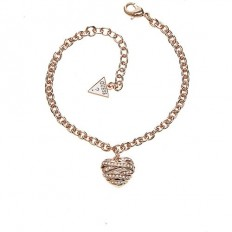Guess Bracciale Donna Heart Rosegold