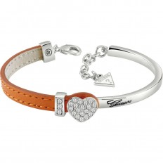 Guess Bracelet Woman Leather/Steel Orange