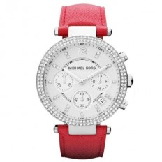 Michael Kors Watch Woman Chronograph Parker Collection Red