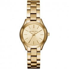Michael Kors Women's Watch Only Time Runway Slim Mini ll Collection Gold