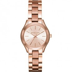 Michael Kors Women's Watch Only Time Runway Slim Mini ll Collection Rosegold