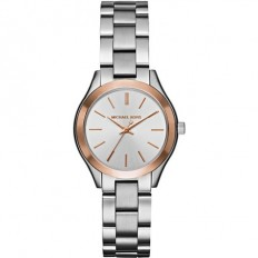 Michael Kors Women's Watch Only Time Runway Slim Mini ll Collection Silver/Rose