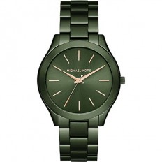 Michael Kors Women's Watch Only Time Slim Runway Collection Green