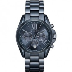 Michael Kors Unisex Watch Chronograph Bradshaw Collection Blue