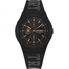 Superdry Watch Unisex Multifunction Urban Xl Collection Black