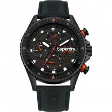 Superdry Watch Unisex Multifunction Leather Black