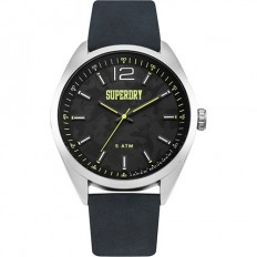 Superdry Orologio Uomo Solo Tempo Leather Blue