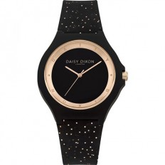 Daisy Dixon Watch Woman Only Time Black/Rosegold