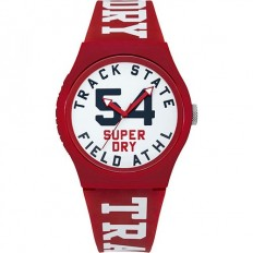 Superdry Watch Unisex Only Time Urban Xl Collection Red/White