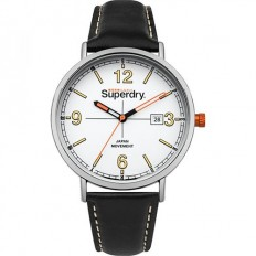Superdry Watch Man Only Time Black Leather