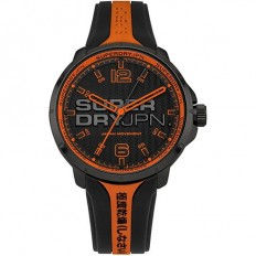 Superdry Watch Man Only Time Kyoto Collection Black/Orange