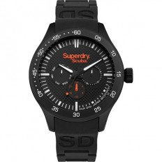 Superdry Watch Unisex Multifunction Scuba Collection Black