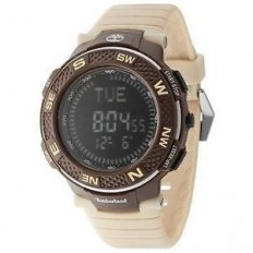Timberland Men's Digital Watch Mendon Collection Beige