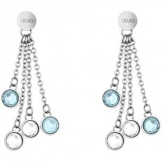 Liu Jo Women's Earrings White/Lightblue
