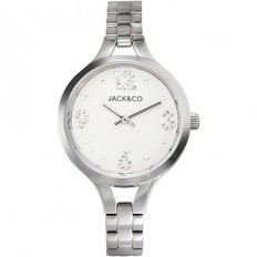 Jack&Co Watch Woman Only Time Monica Collection Silver/White