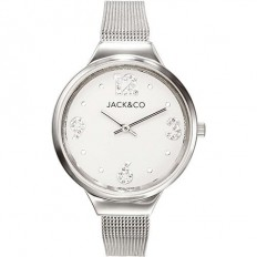 Jack&Co Watch Woman Only Time Monica Collection Mesh Silver/White