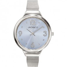 Jack&Co Watch Woman Only Time Monica Collection Mesh Silver/Lightblue