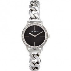Jack&Co Watch Woman Only Time Sophia Collection Silver/Black