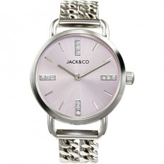 Jack&Co Watch Woman Only Time Stefania Collection Silver/Rose