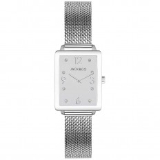 Jack&Co Watch Woman Only Time Giovanna Collection Mesh Silver/White