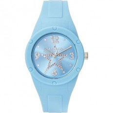 Jack&Co Watch Woman Only Time Pop Cristiana Collection Lightblue Crystals