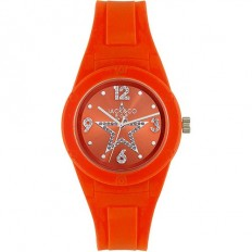 Jack&Co Watch Woman Only Time Pop Cristiana Collection Orange Crystals
