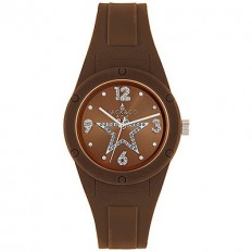 Jack&Co Watch Woman Only Time Pop Cristiana Collection Brown Crystals