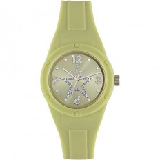 Jack&Co Watch Woman Only Time Pop Cristiana Collection Green Crystals