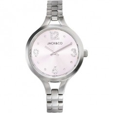 Jack&Co Watch Woman Only Time Monica Collection Silver/Rose