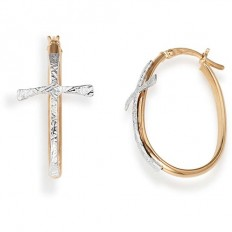 Amen Woman Earrings Croci Collection Oval Rosegold