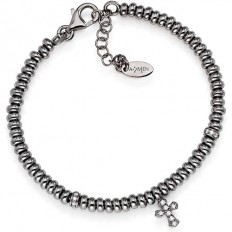 Amen Bracelet Pepite Collection Cross Rhodium