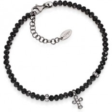 Amen Bracelet Man Pepite Collection Cross Black