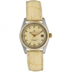 Lorenz Women's Watch Only Time Ginevra Collection Leather Yellow