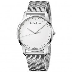 Calvin Klein Men's Watch Only Time City Collection White