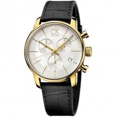 Calvin Klein Men's Watch Chronograph City Collection Gold/White
