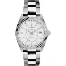 Lorenz Watch Unisex's Only Time Automatic Ginevra Collection White Steel