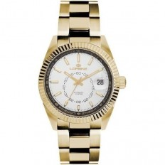 Lorenz Watch Unisex's Only Time Automatic Ginevra Collection White/Gold Steel