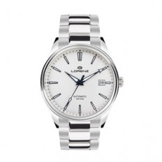Lorenz Watch Unisex's Only Time Automatic Arrow Collection White Steel