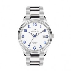 Lorenz Watch Unisex's Only Time Automatic Arrow Collection White Numbers