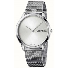 Calvin Klein Unisex Watch Only Time Minimal Collection Black